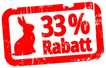 33 % Rabatt