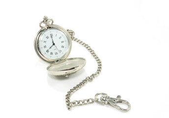 Old pocket watch with chain