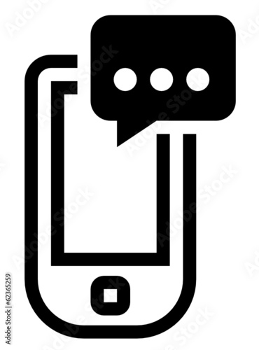 Phone with message vector icon