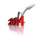 3D illustration - a recovery in the New Year 2014