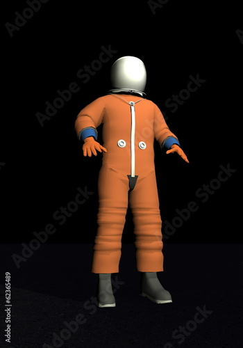 Advanced crew escape space suit - 3D render