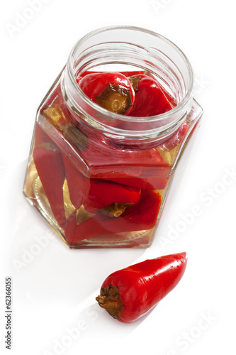 Chilli peppers in marinate