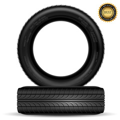 Illustration of car tire isolated on white background