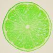 Retro look Lime slice