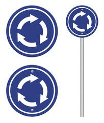 grunge traffic circle arrow sign