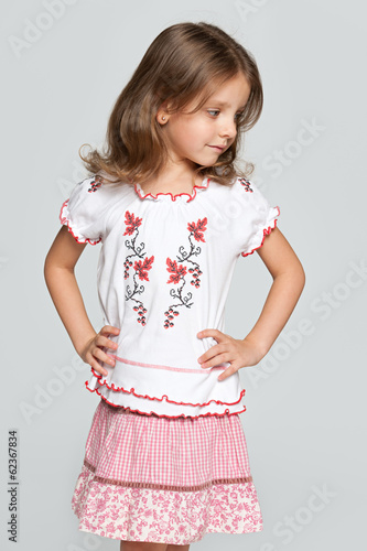 Portrait of a little Ukrainian girl