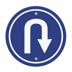 U-Turn Roadsign, part of a series.