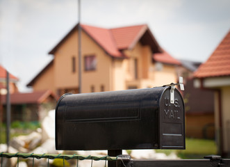 Cloes up of a mailbox on the street