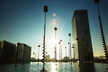 soleil sur La Défense