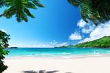 Fototapety beach Takamaka, Mahe island, Seychelles