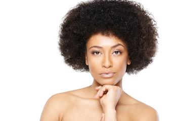 Beautiful serene African American woman
