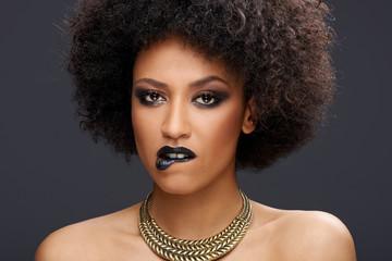 Sensual elegant African American woman