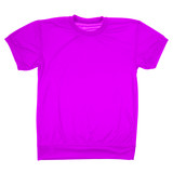 Violet blank t-shirt (Clipping path)
