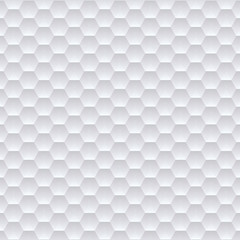 White hexagons seamless pattern. Vector eps10