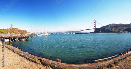 Marina by Golden Gate Bridge, San Francisco