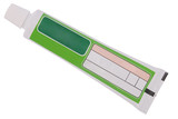 Green tube toothpaste (Clipping path)