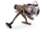 Spinning for fishing (Clipping path)