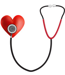 Stethoscope on a Heart ECG Trace Pathology