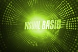 Visual basic against green pixel spiral