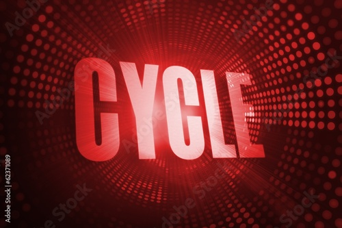 Cycle against red pixel spiral