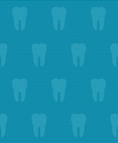 Dental seamless pattern with blue background and teeth (tiling)