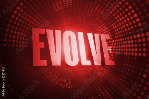 Evolve against red pixel spiral