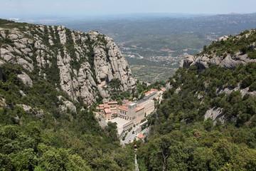 Santa Maria de Montserrat Abbey in Monistrol de Montserrat, Cata