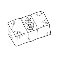 sketch of money