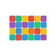 colorful rectangles isolated on white background.geometric shape