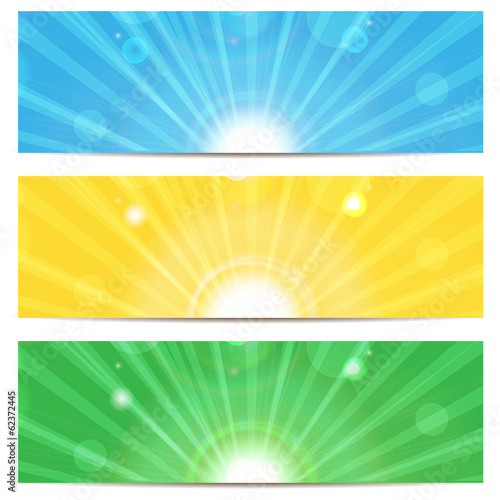 set of abstract colorful backgrounds.colored background with sun