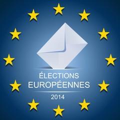 Elections européennes sur fond bleu étoilé