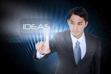 Ideas against black glowing design