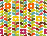 Bright flowers pattern