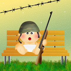 baby soldier