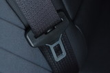 Seatbelt buckle inside car seat