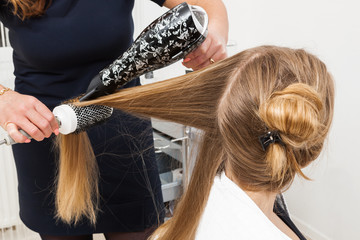 hairdo in hair salon