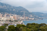 View of Ligurian Alps in Monaco
