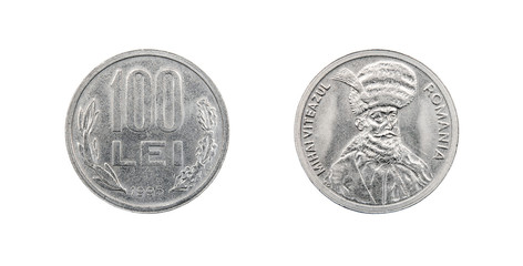 Coin 100 lei. Republic of Romania