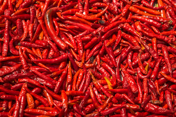 Red hot chili peppers background.