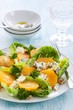 Orange and blue cheese salad