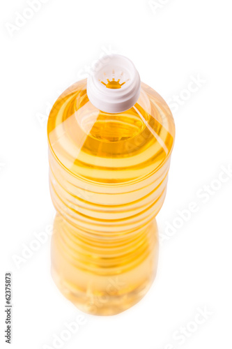Bottle of oil isolated on white