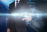 Brand against abstract technology background
