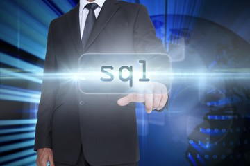 Sql against digital earth background