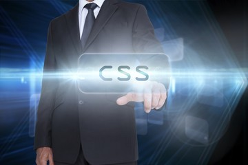 Css against shiny arrow lines on black background