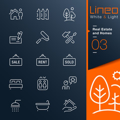 Lineo White & Light - Real Estate and Homes outline icons