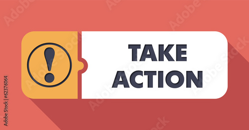 Take Action Concept in Flat Design.