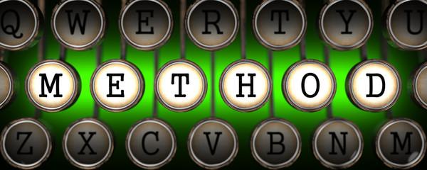 Method on Old Typewriter's Keys.