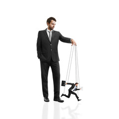 boss with his marionette
