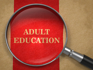 Adult Education - Magnifying Glass.