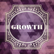 Growth. Vintage Background.